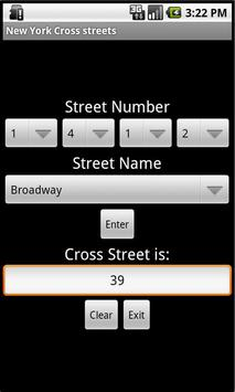 New York Cross streets apk screenshot