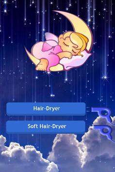 Baby Hair dryer + Night light poster
