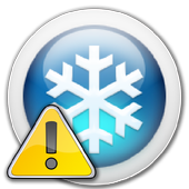 Car air conditioning problem icon