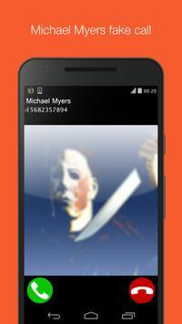Michael Myers fake call prank poster