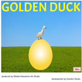 Golden Duck 3D icon