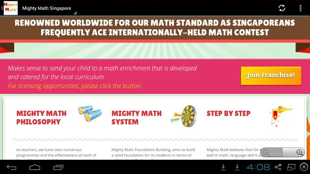 Singapore Mighty Math apk screenshot