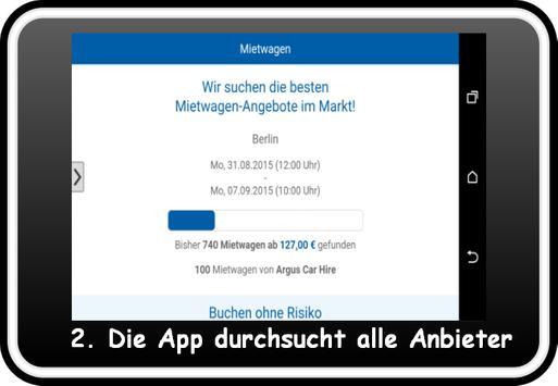 Mietwagen Vergleich apk screenshot