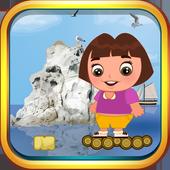 Crazy Dora Blocky Jump Explorer icon