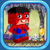 Mobile Lego Blocky Spider Jump Strike Man icon