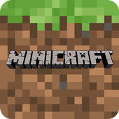 "Mini craft ""Pocket edition"" crafting and building icon"