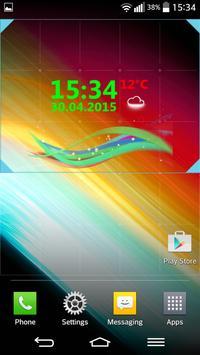 Minimal Clock Widget apk screenshot