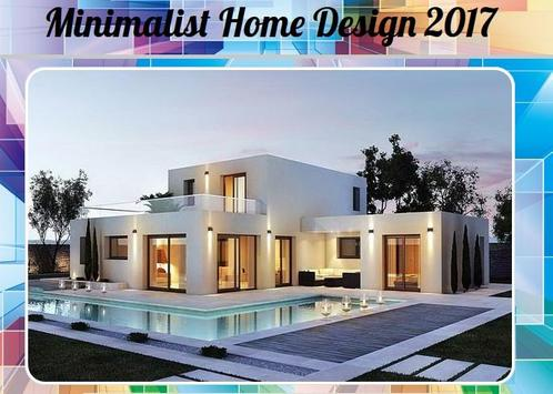 Minimalist Home Design 2017 poster