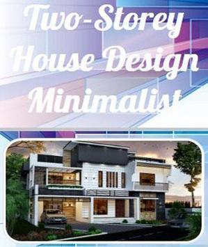 minimalist two-storey house poster