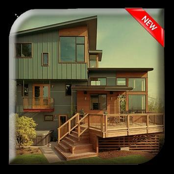 Minimalist Wooden House poster