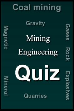 Mining Engineering Quiz poster