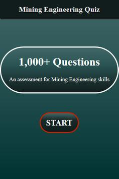 Mining Engineering Quiz screenshot 1