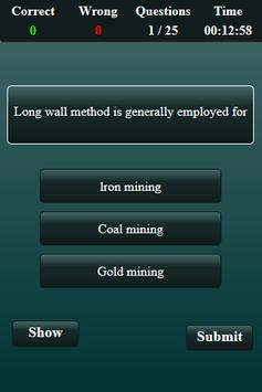 Mining Engineering Quiz screenshot 2
