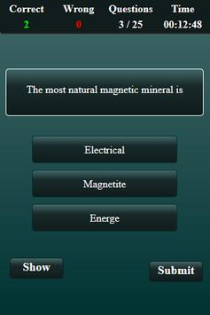 Mining Engineering Quiz screenshot 4