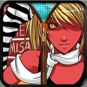 Misa & Kira Zip Screen Locker icon