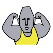 Muscle Moai Kun icon