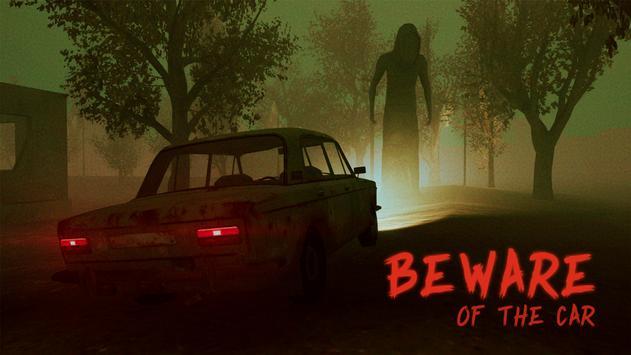 Beware of the car الملصق