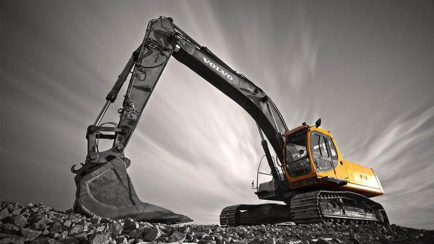 Excavator. Dirt Vehicles. Wallpapers apk screenshot
