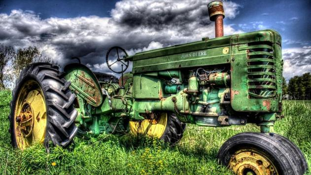 Green Tractor. Super Wallpapers poster