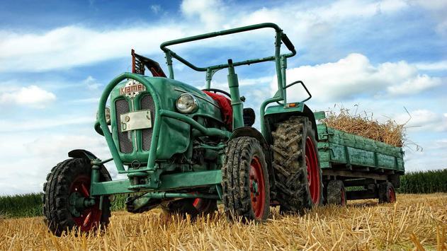 Green Tractor. Super Wallpapers screenshot 1