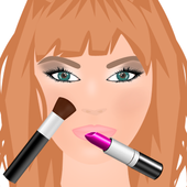 model makeup game icon