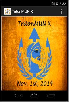 TritonMUN X poster
