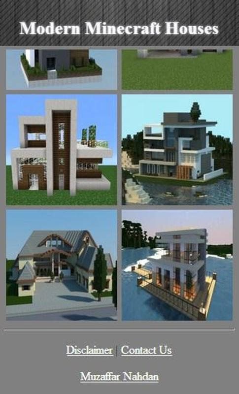 Modern Minecraft Houses APKDownload Kostenlos Haus Garten APP - Minecraft hauser download kostenlos