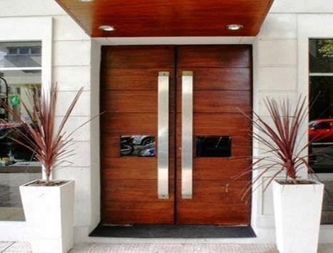Modern Minimalist House Door Design poster