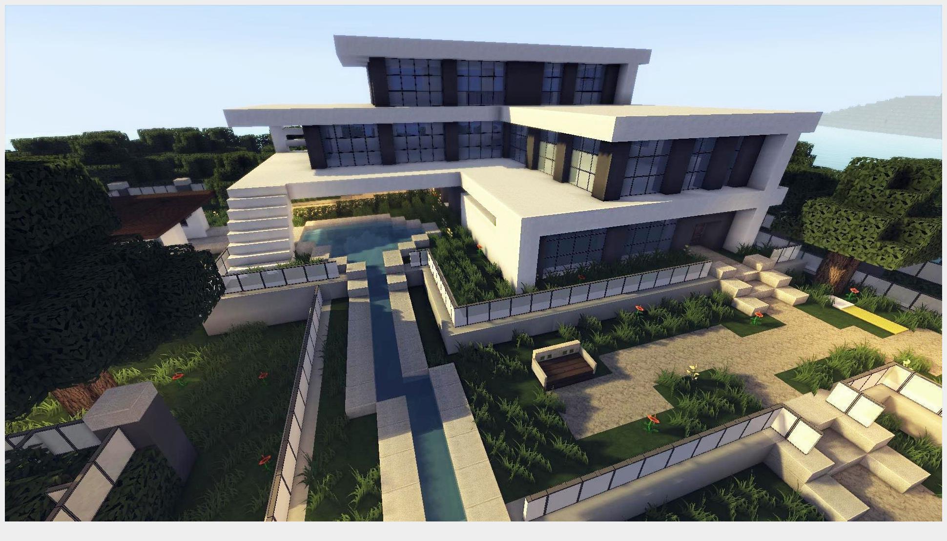 Modern house minecraft screenshot 3
