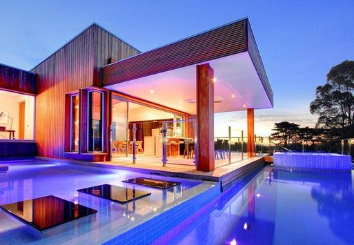 Modern Pool House Design poster
