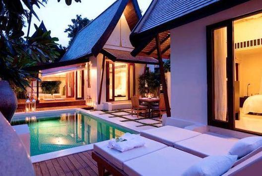Modern Pool House Design screenshot 2