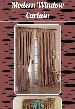 Modern Window Curtain poster