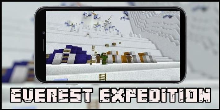 Map Everest Expedition for MCPE poster
