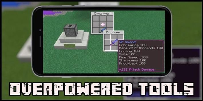 Overpowered Tools Map for MCPE poster