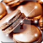 Beautiful Golden Macaroons Screen Lock icon