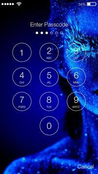 Glitter Galaxy  Body Screen Lock screenshot 1