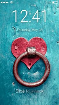 Love Heart Red Screen Lock poster