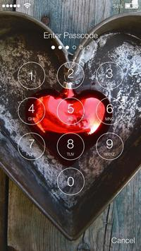 Love Heart Red Screen Lock apk screenshot