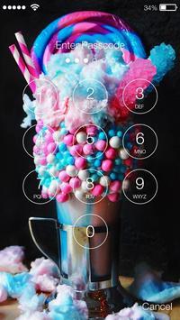 Rainbow Unicorn Drink With Marshmallow Screen Lock apk screenshot