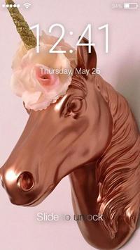 Rose Gold Gliter Cuties Screen Lock apk screenshot