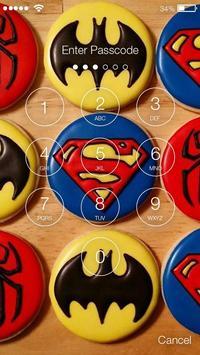 Superhero Nice Cookies Screen Lock apk screenshot