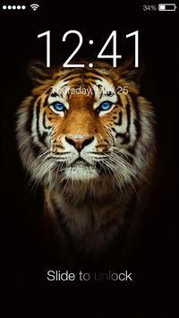 Tiger Screen Lock poster