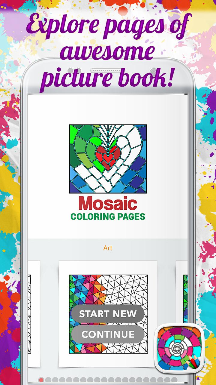 Mosaic Coloring Pages For Android Apk Download