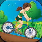 girl bike world icon