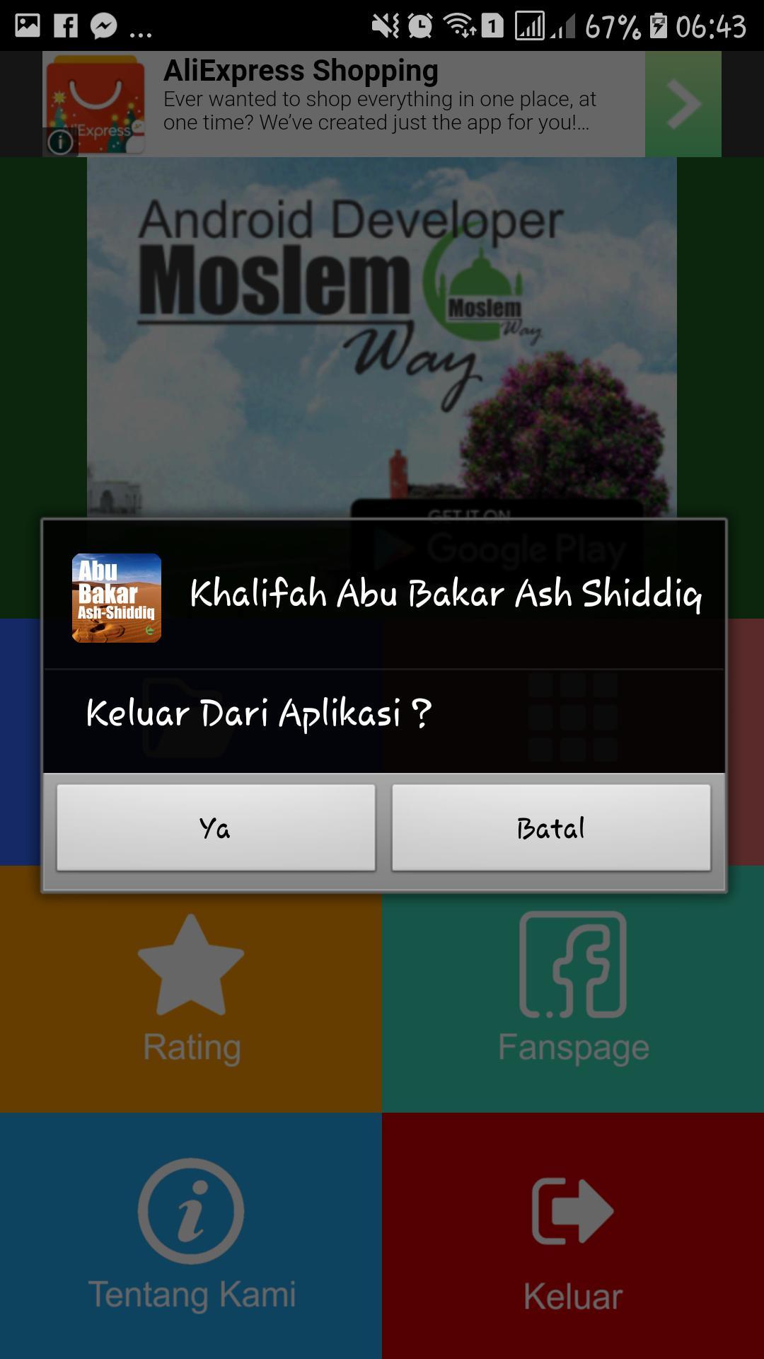 Khalifah Abu Bakar Ash Shiddiq poster