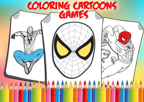 How To Color Spider-Man Coloring game 4 spiderman for Android - APK ...