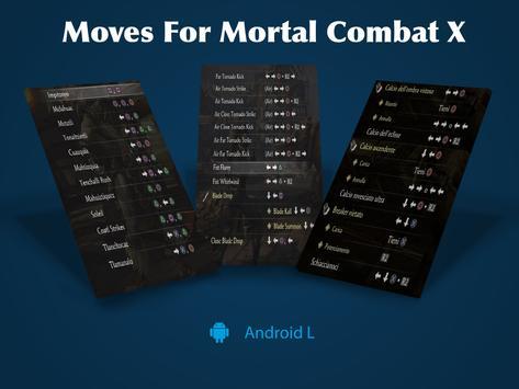 Moves For Mortal Kombat X screenshot 2