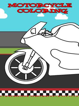 Motorcycle Speed Race Coloring screenshot 2