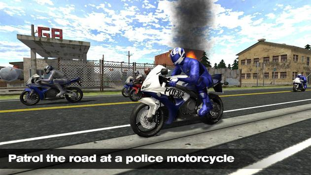 Motorcycle Traffic COP Ride poster