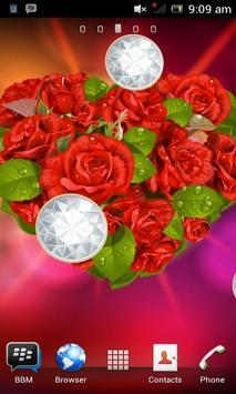 Love Rose Flower Heart LWP poster